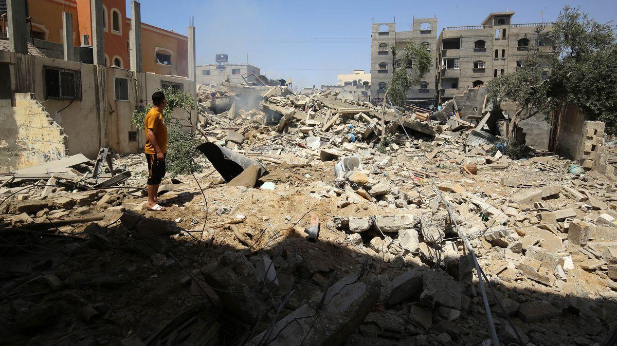 Zerstörter Teil am Gaza-Streifen.