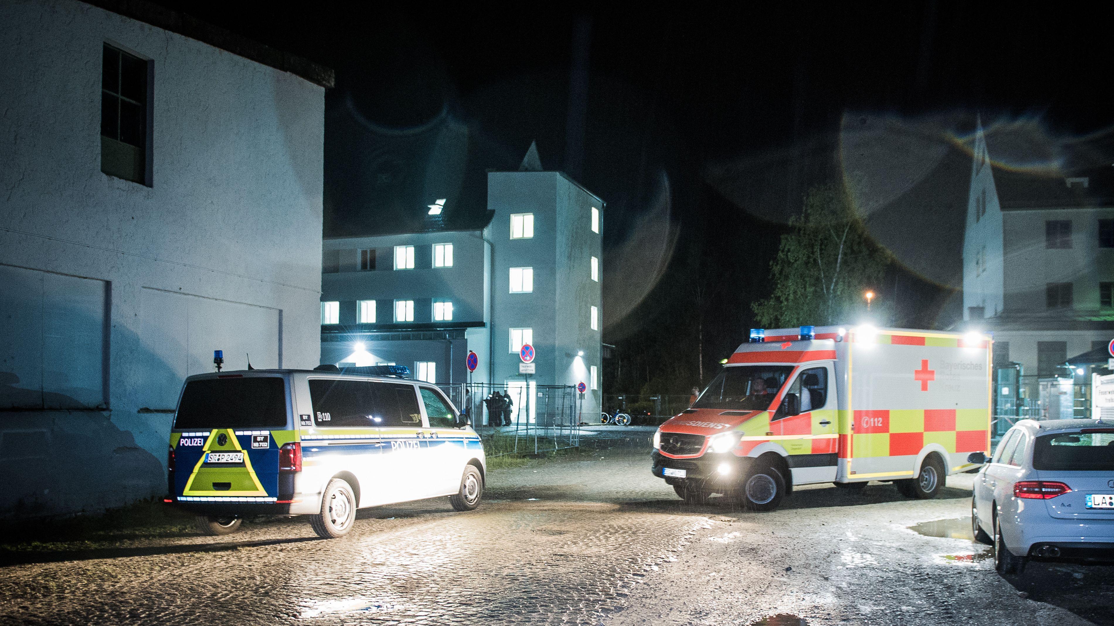 Größerer Polizeieinsatz im Ankerzentrum Deggendorf.