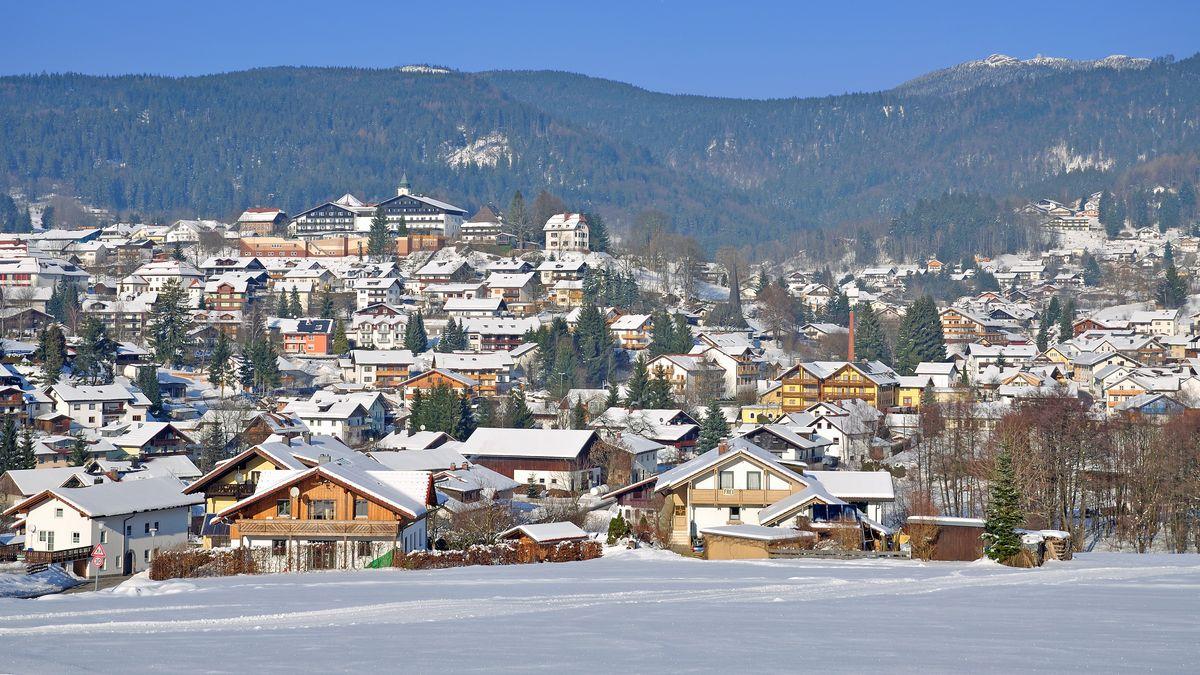 Winteridylle in der Ortschaft Bodenmais im Kreis Regen