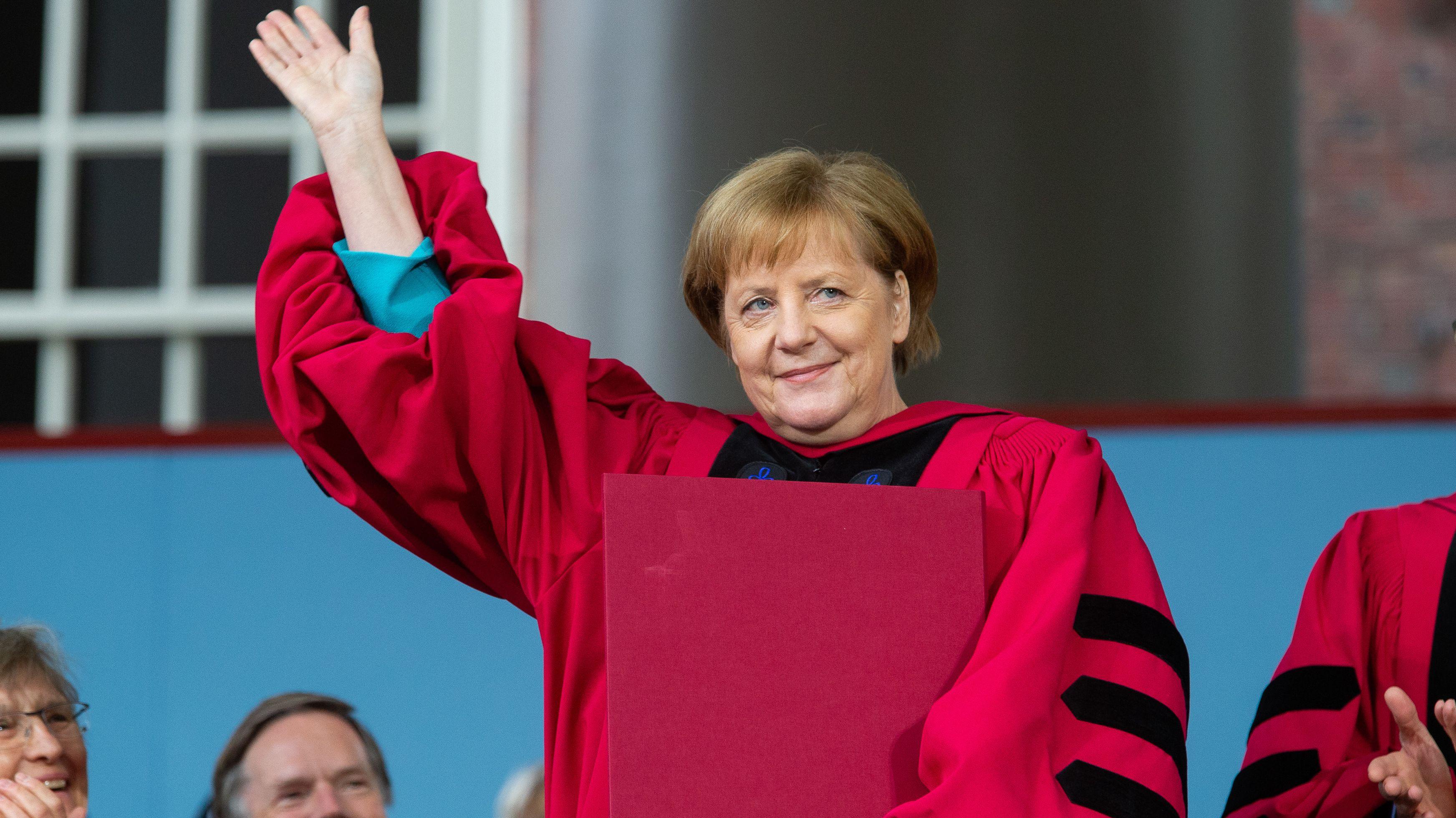 Kanzlerin Merkel erhält Ehrendoktorwürde in der Elite-Uni Harvard