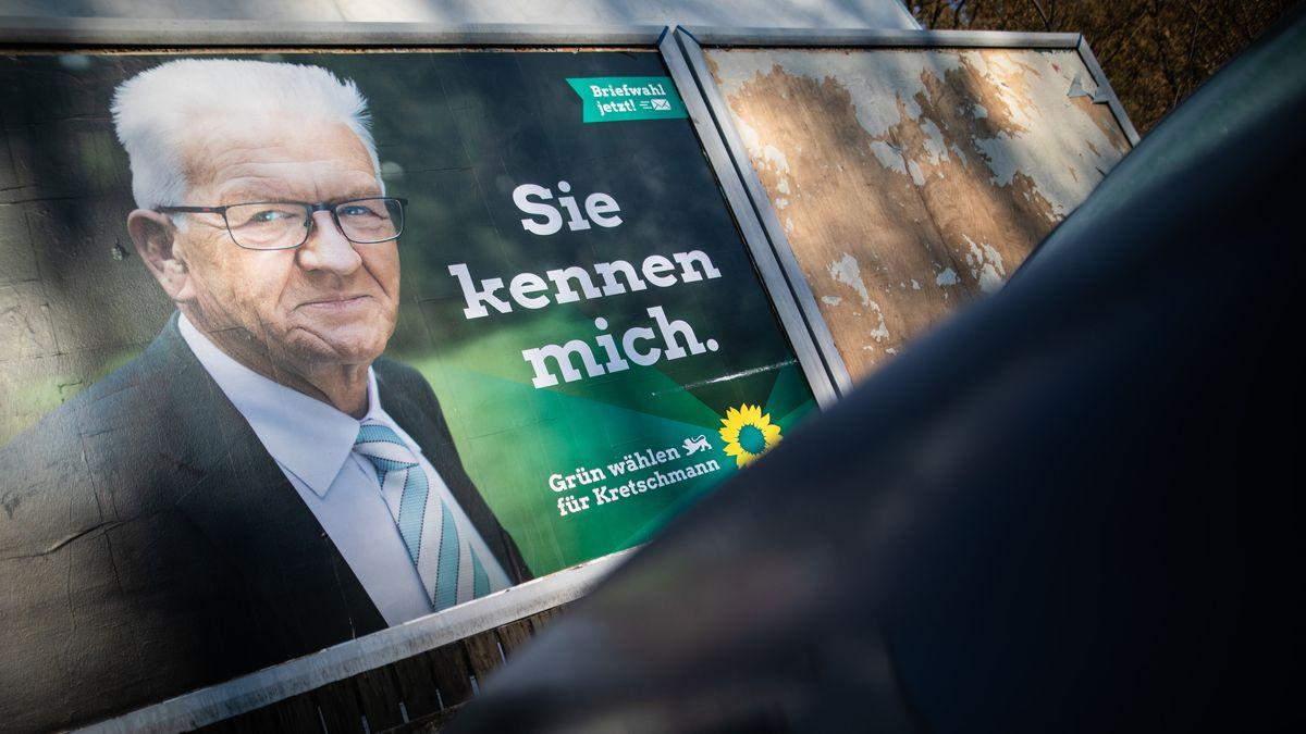 Grünen-Wahlplakat mit Winfried Kretschmann.