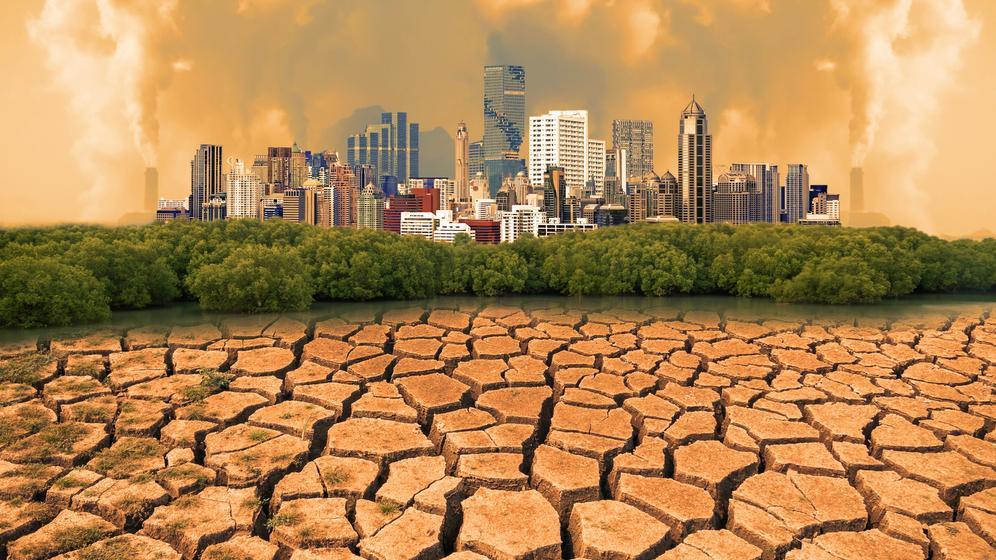 Grafik: Die Wirtschaft trägt zum Klimawandel extrem bei. Club of Rome mahnt wirtschaftliche Veränderungen an. | Bild:colourbox/Nirut Sangkeaw