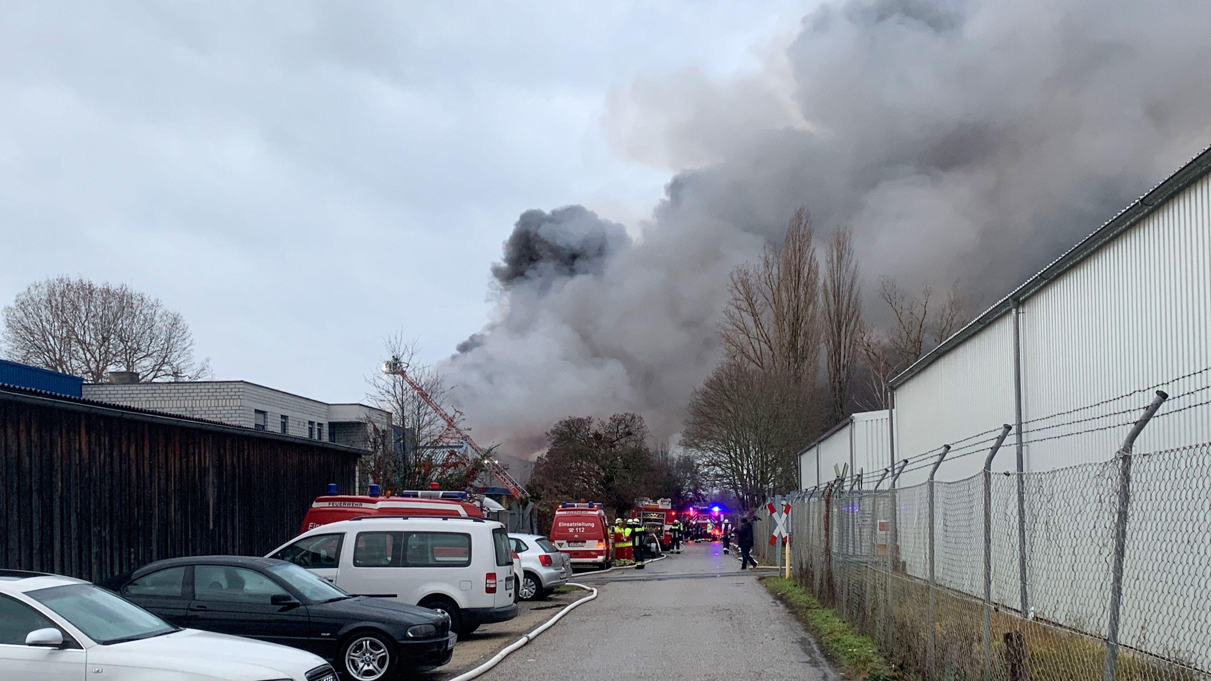 Brand am Rangierbahnhof in Nürnberg