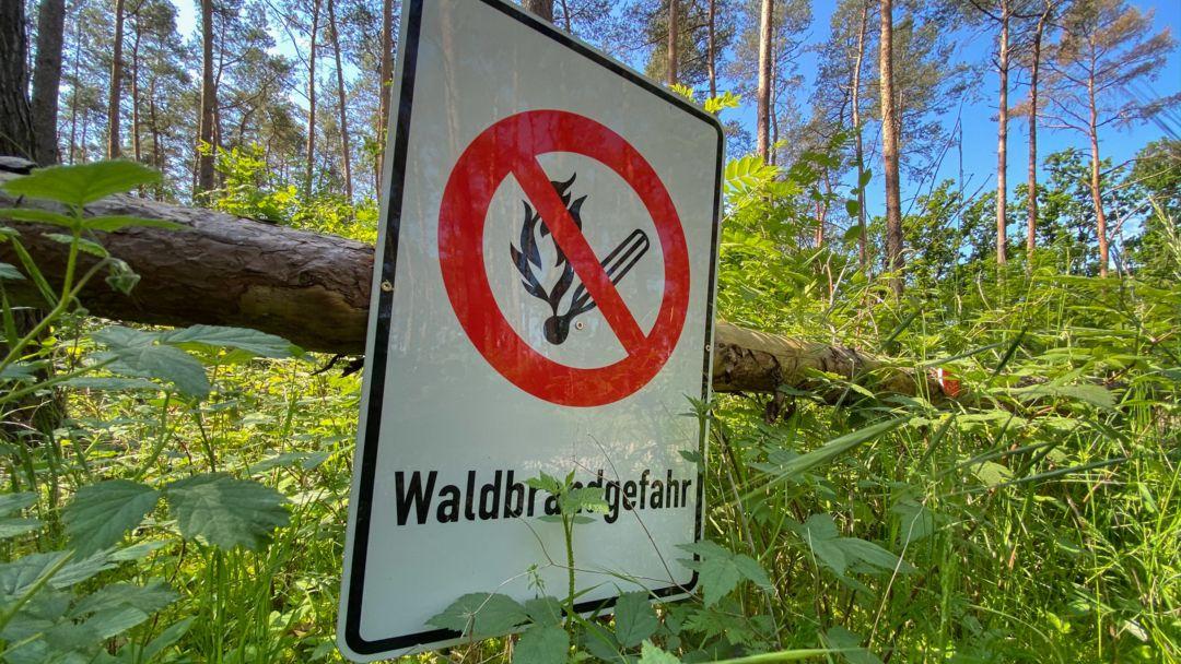 In Bayern herrscht am Wochenende erhöhte Waldbrandgefahr