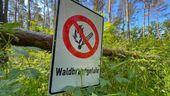 In Bayern herrscht am Wochenende erhöhte Waldbrandgefahr | Bild:dpa