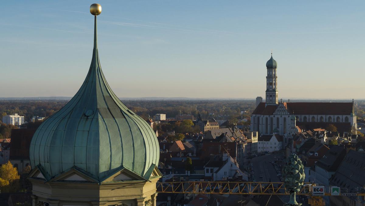 Die Innenstadt von Augsburg