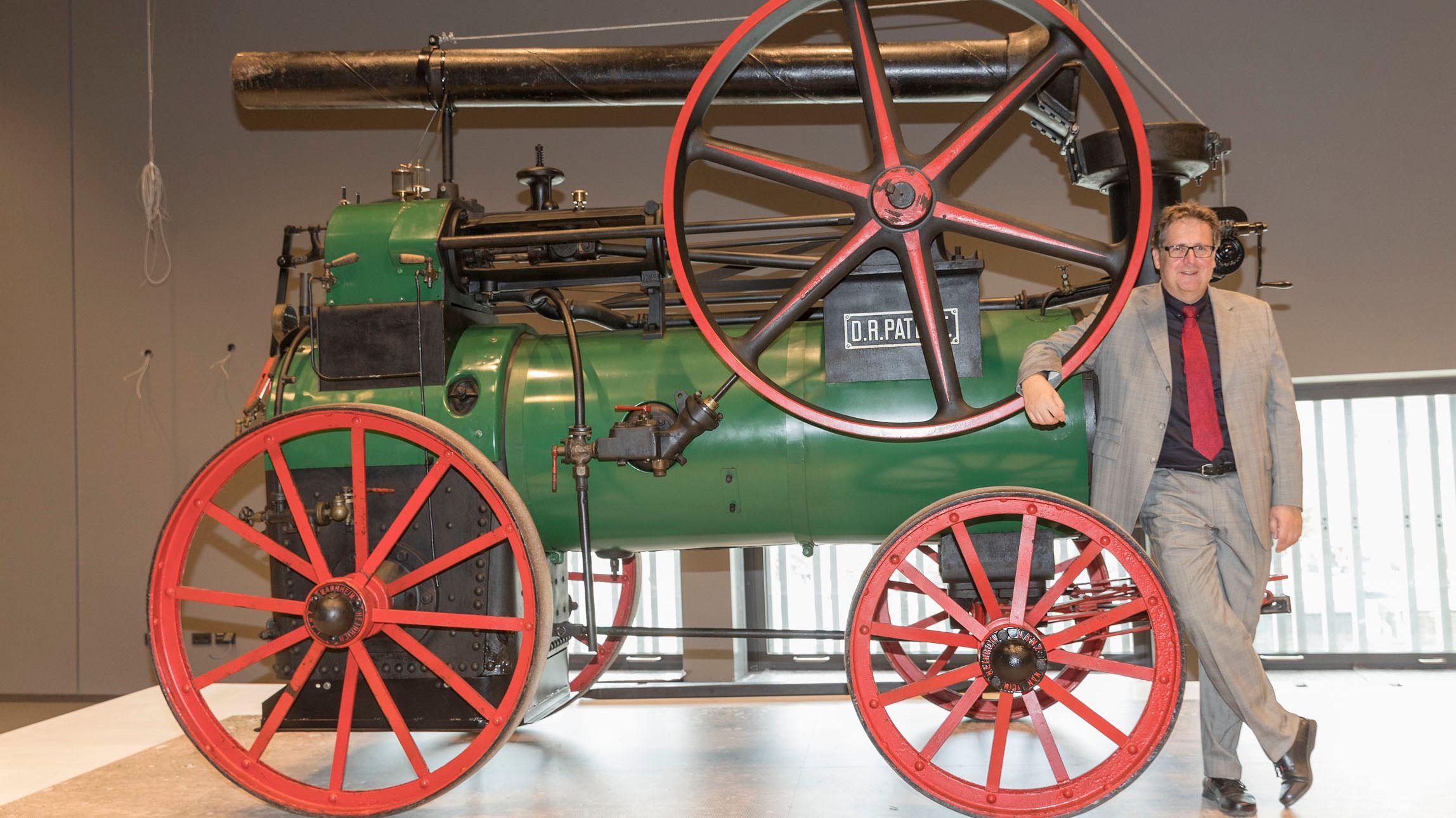 ... eine Lokomobile aus dem Jahr 1921 ...