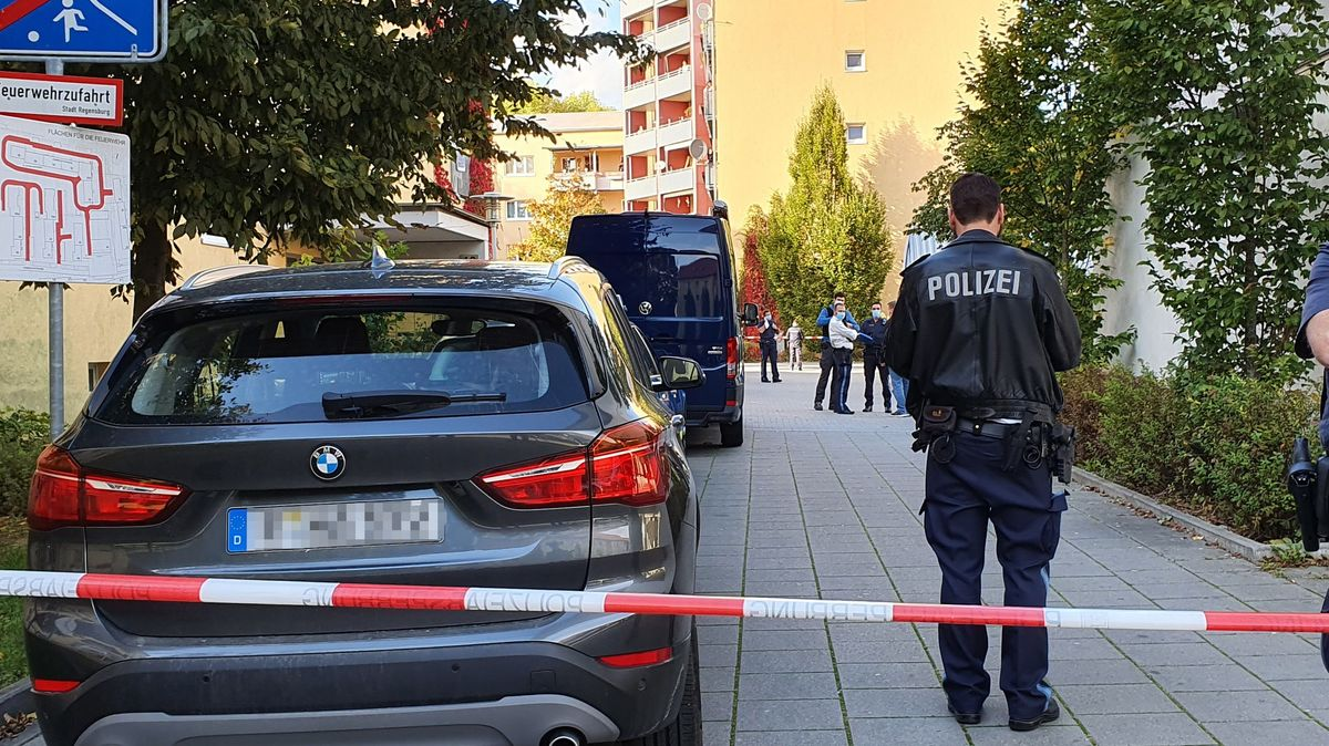 Die Polizei hatte am Donnerstag des Tatort abgesperrt.