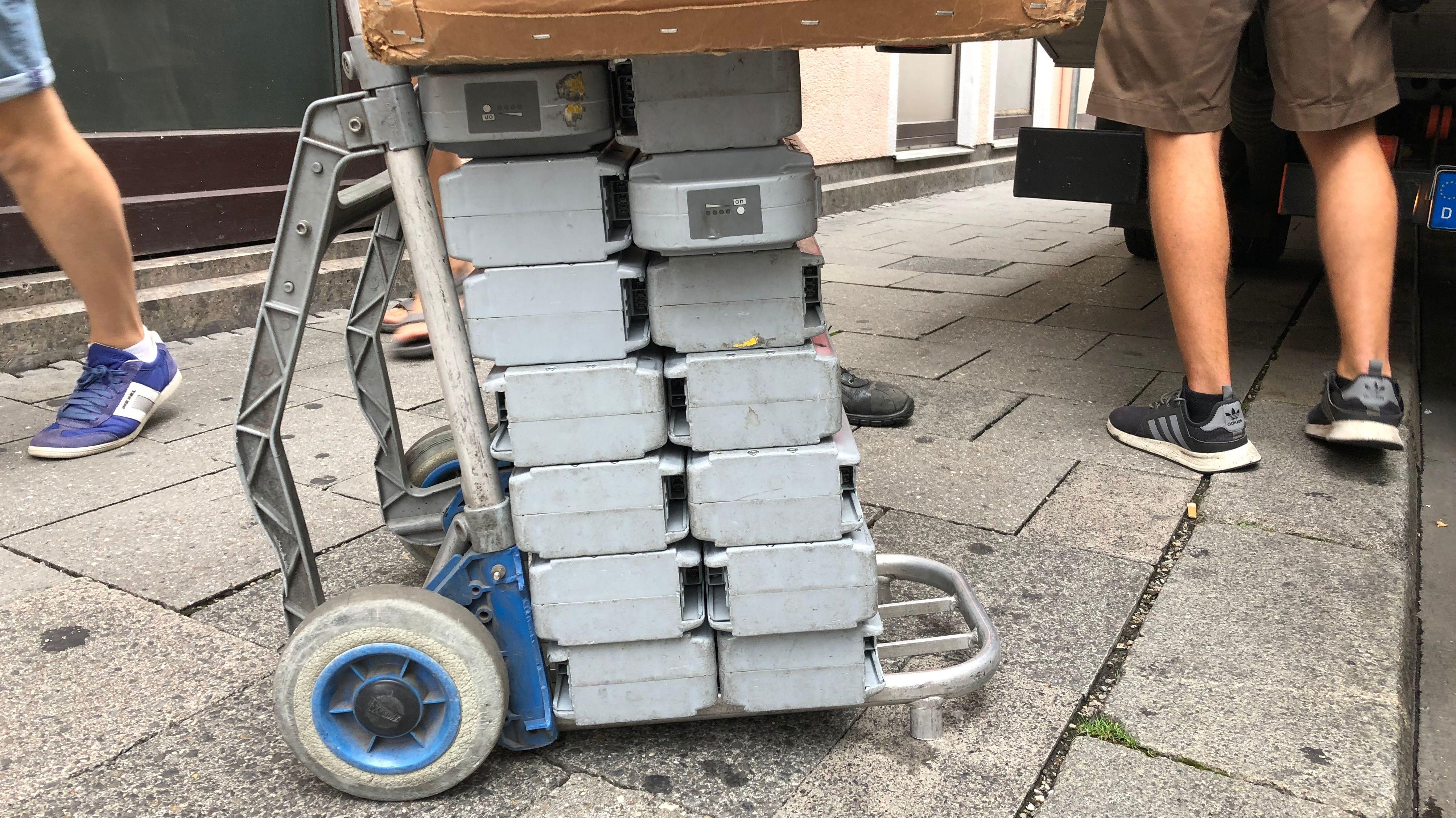 Batterie-Zustellung für Lastenräder