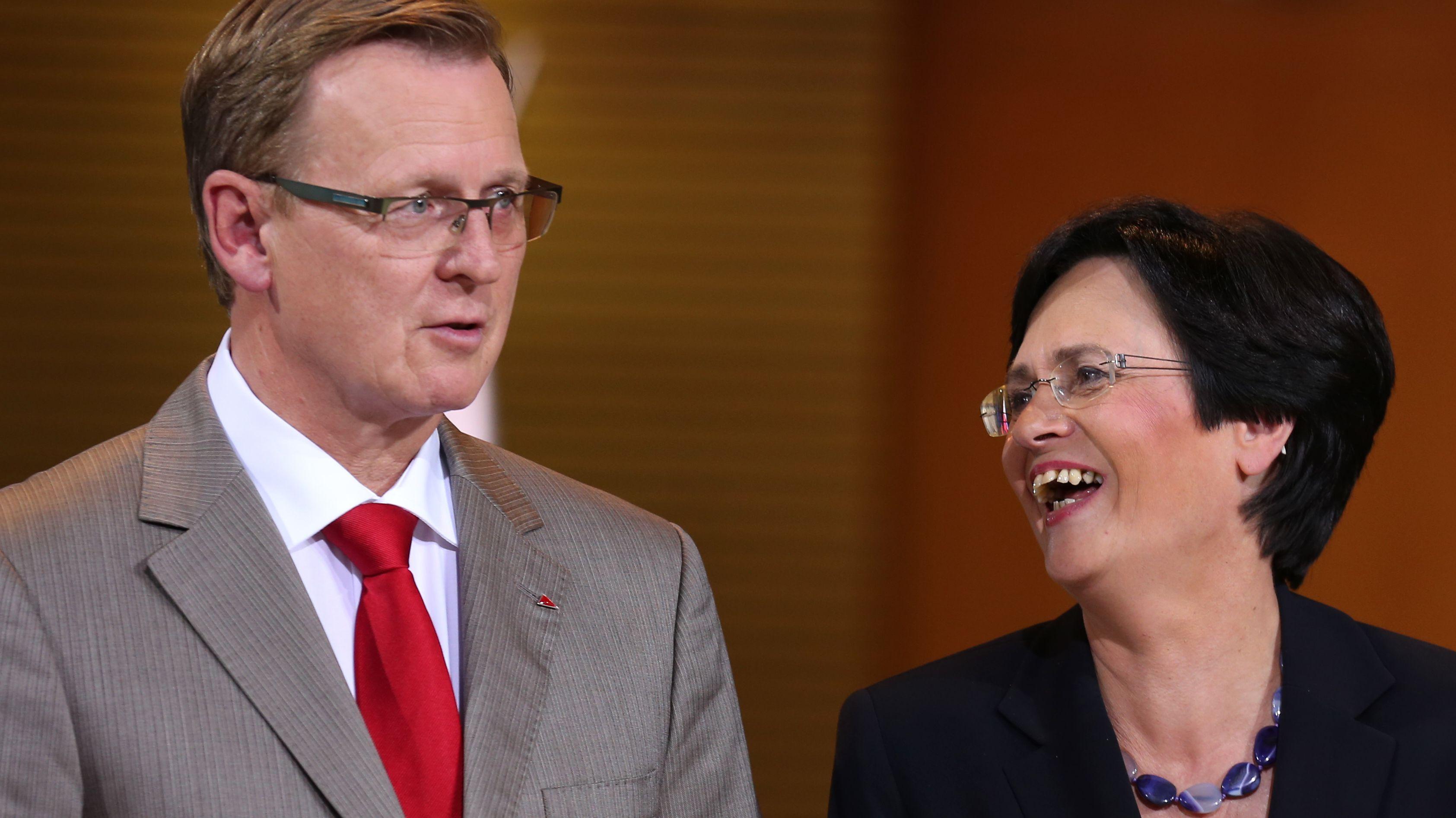 Ramelow und Lieberknecht (Archivbild)