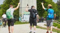 Diese Corona-Regeln gelten am Vatertag in Bayern   Bild:picture alliance / Martin Ley   Martin Ley