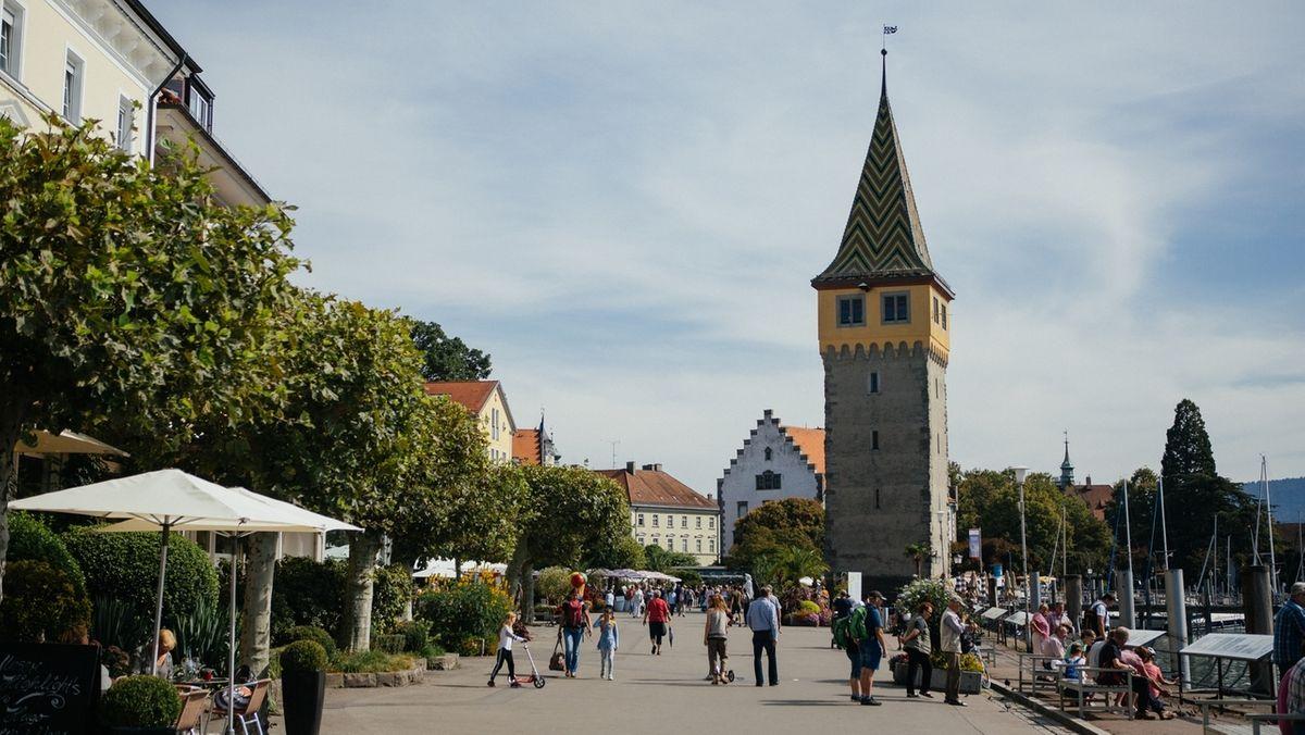 Der Mangturm am Lindauer Hafen.