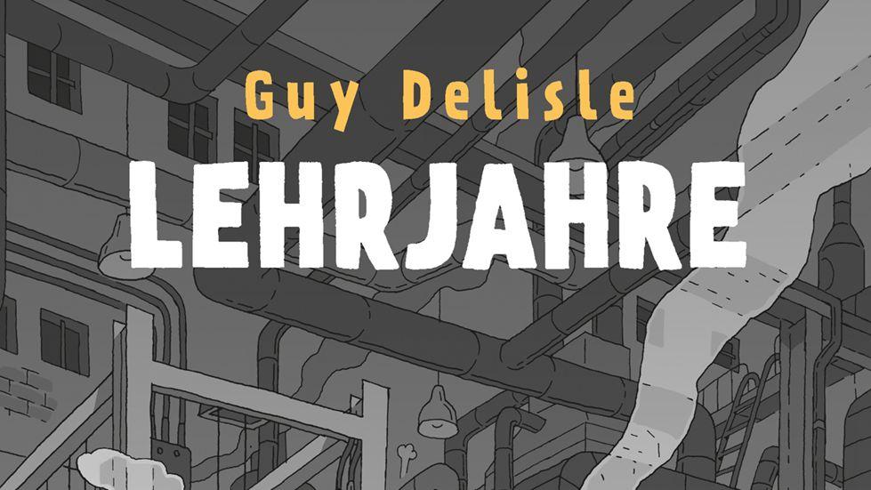 """Ausschnitt des Titelblatts des autobiografischen Reportagecomics """"Lehrjahre"""" von Guy Delisle"""