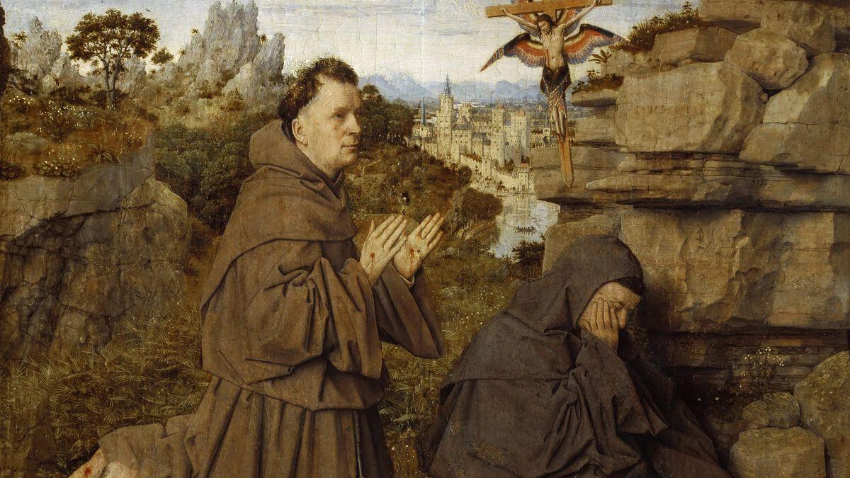 In der Kunst wird der Ordensgründer, der Heilige Franziskus, oft als Sorgender für die Aussätzigen, Kranken oder Ausgestoßenen gezeigt.