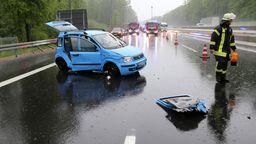 Kollision A3 bei Regen | Bild:BR / Ralf Hettler