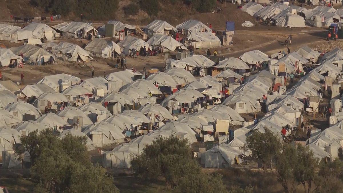 Flüchtlingslager Kara Tepe auf der griechischen Insel Lesbos