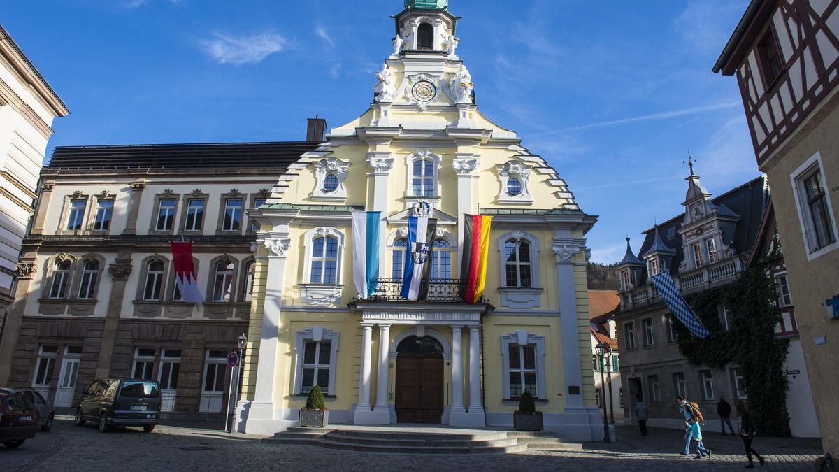 Außenansicht des Kulmbacher Rathauses.