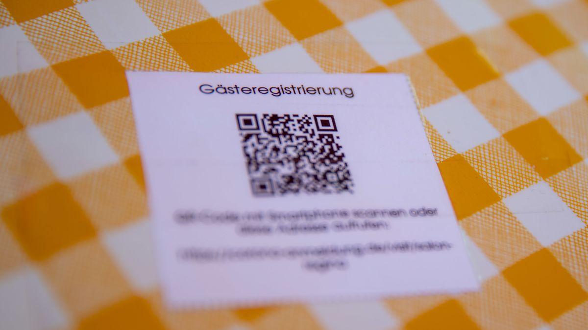 QR-Code auf Tischdecke
