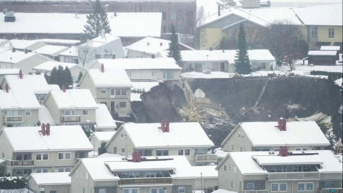 Erdrutsch in der norwegischen Kleinstadt Ask in der Nähe von Oslo.