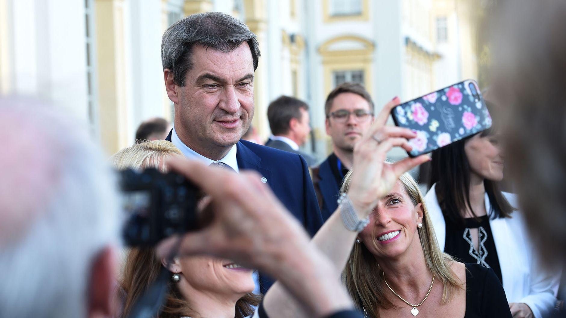 Ministerpräsident Markus Söder (CSU) beim Sommerempfang des bayerischen Landtags.