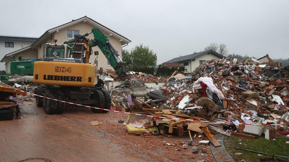 Wohnhaus in Rettenbach explodiert   Bild:BR