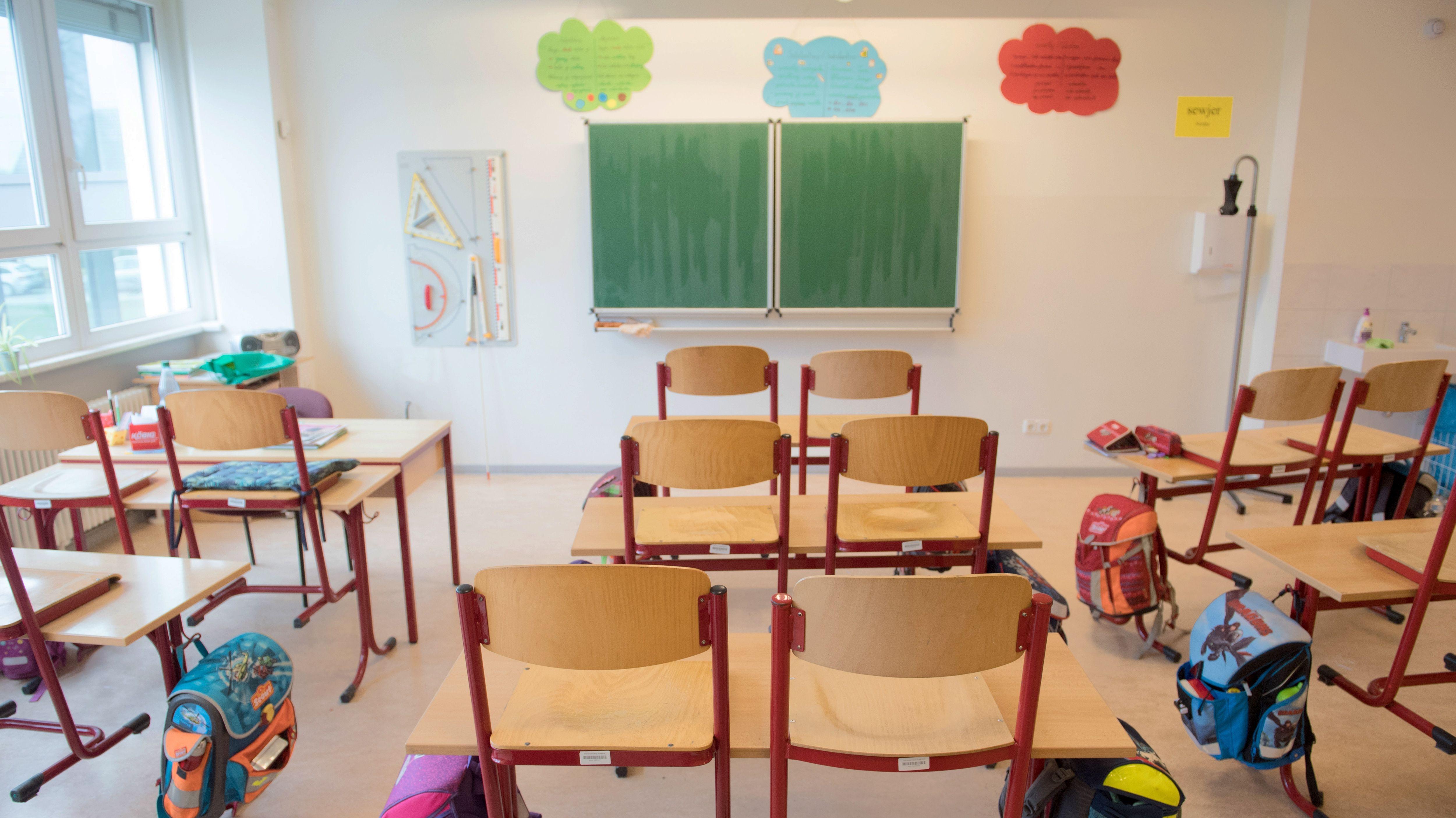 Ein leeres Klassenzimmer (Symbolbild)