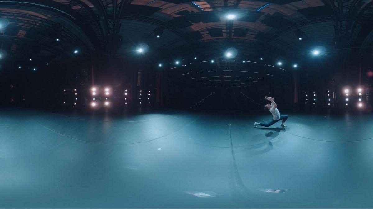 Tänzer auf Bühne