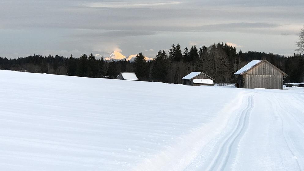 Ammergauer Alpen, aufgenommen zwischen Bad Kohlgrub und Bad Baiersoyen am 15.01.2019. | Bild:BR/Martin Breitkopf
