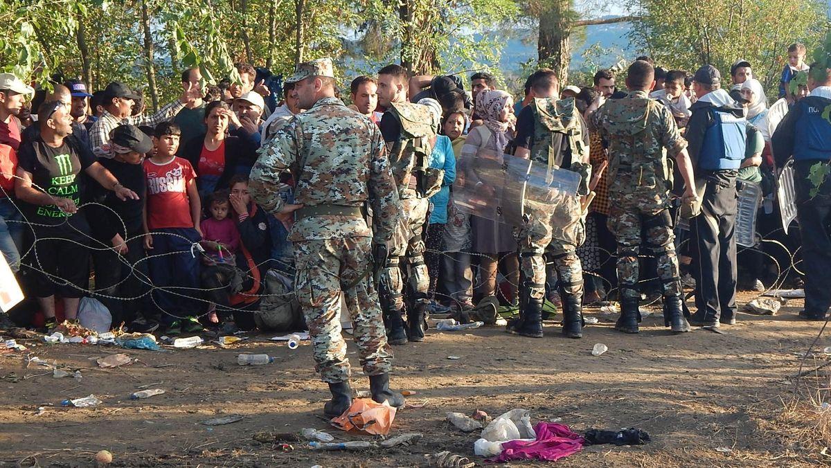 22. August 2015, Grüne Grenze Nordmazedonien/Griechenland.
