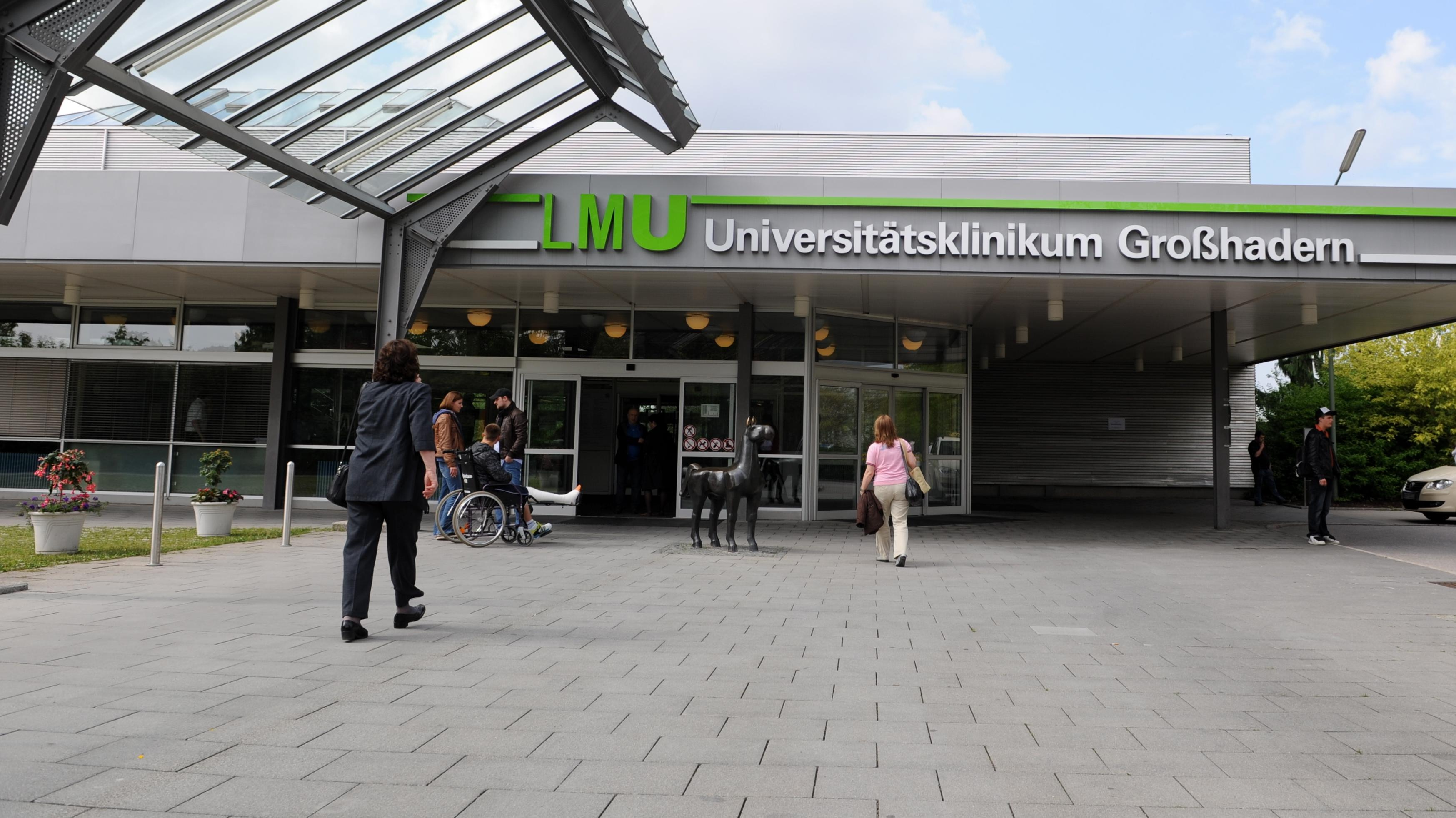 Haupteingang des Universitätsklinikums Großhadern