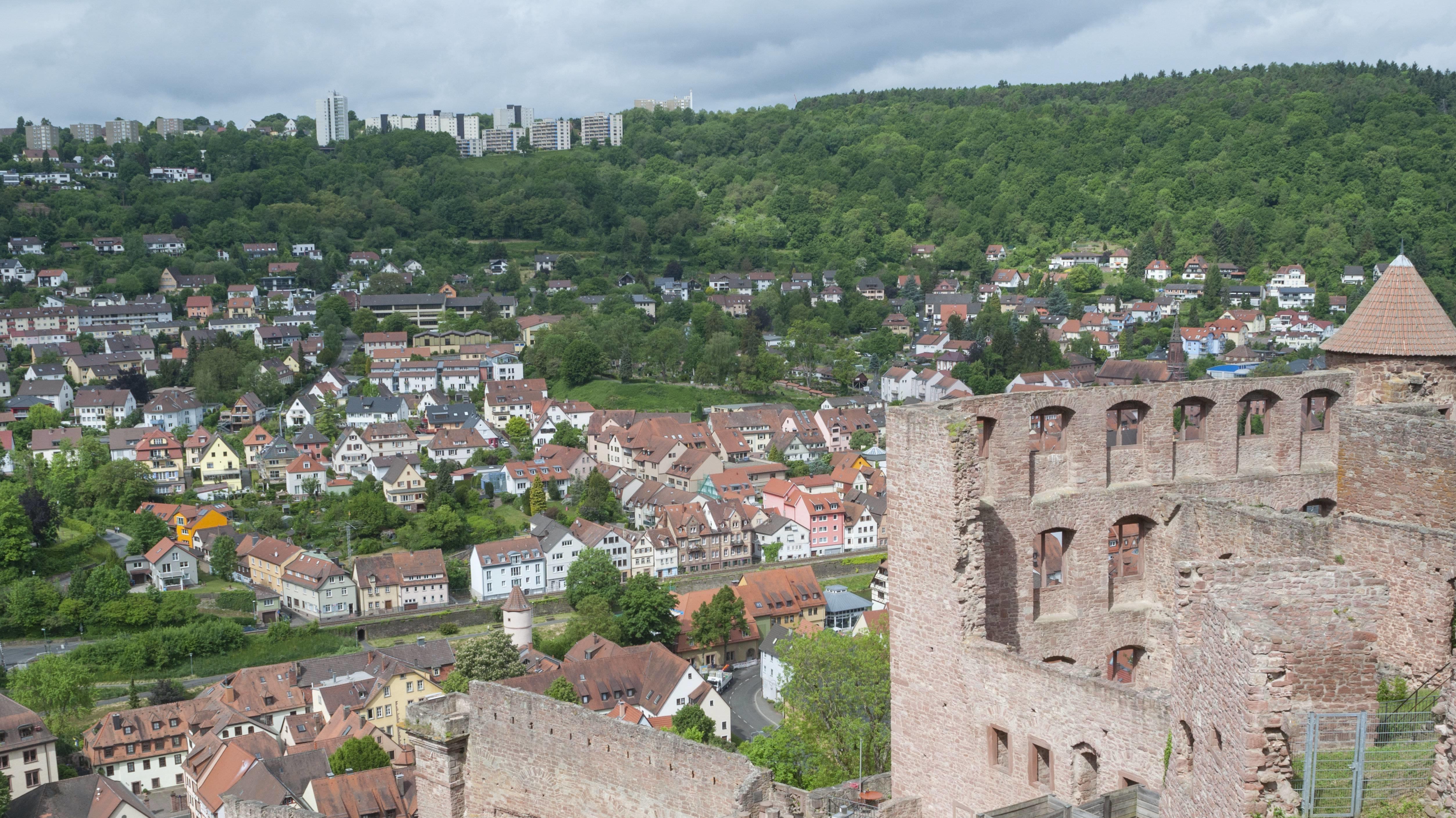 Blick von der Burg über Wertheim