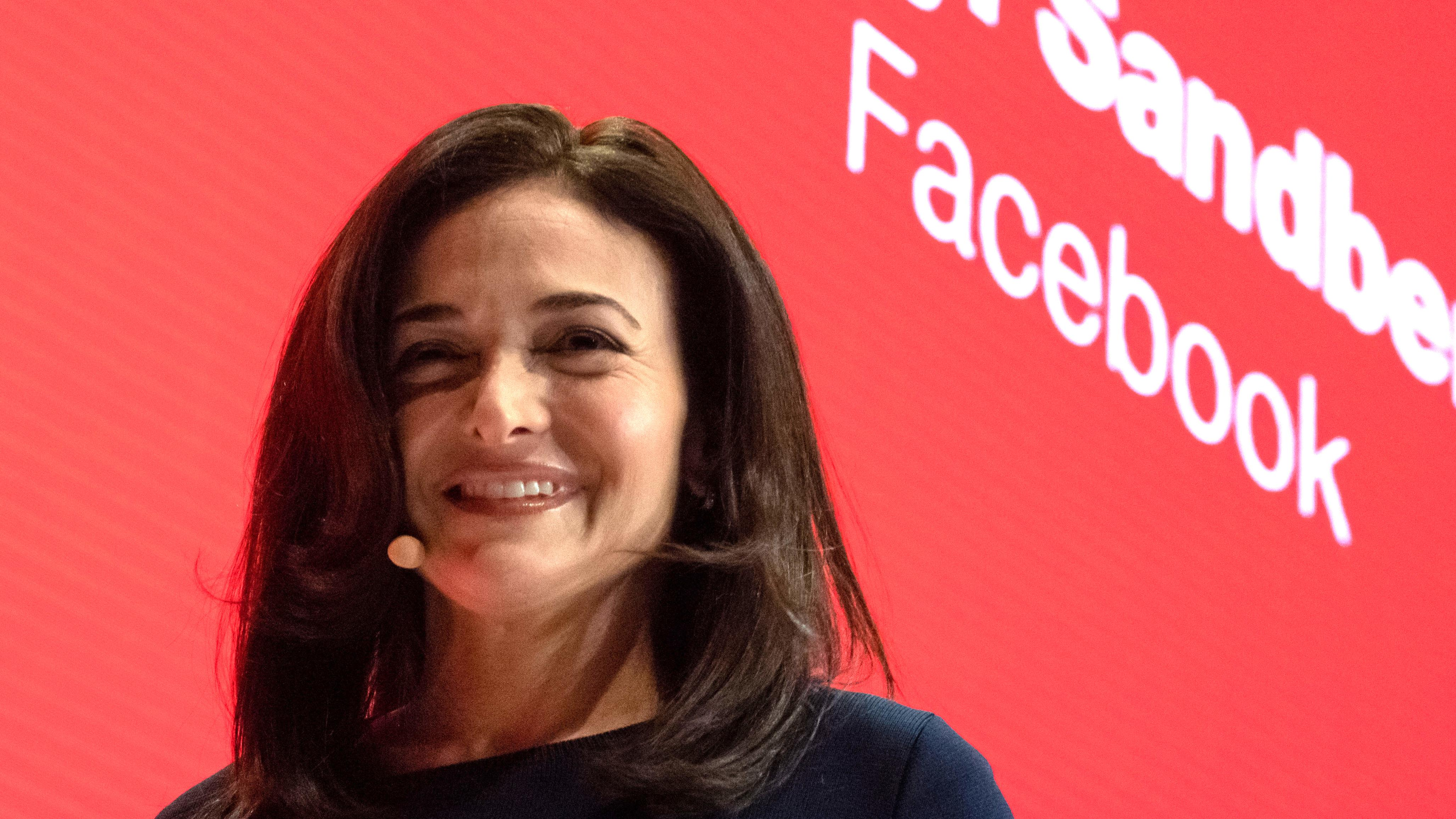 Facebooks Vize-Chefin Sheryl Sandberg auf der DLD