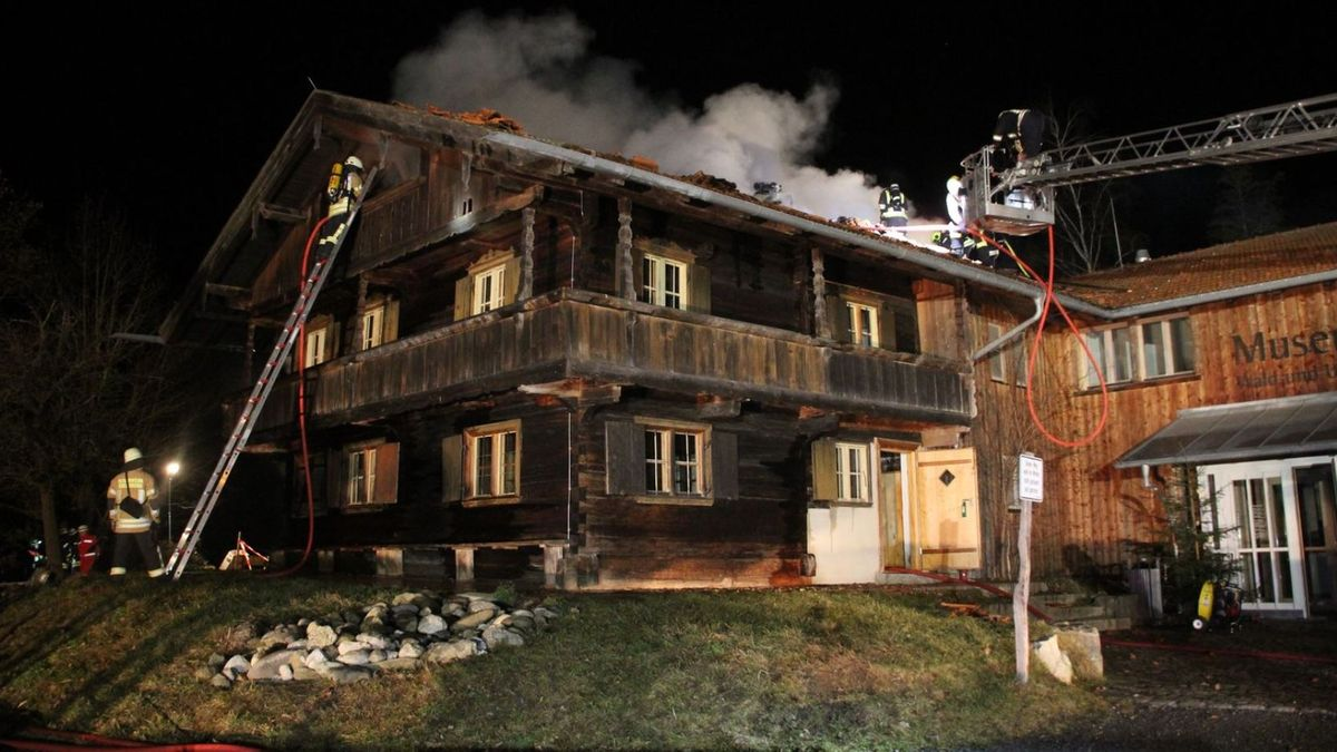 Brand im Ebersberger Waldmuseum am 18. Dezember 2019.