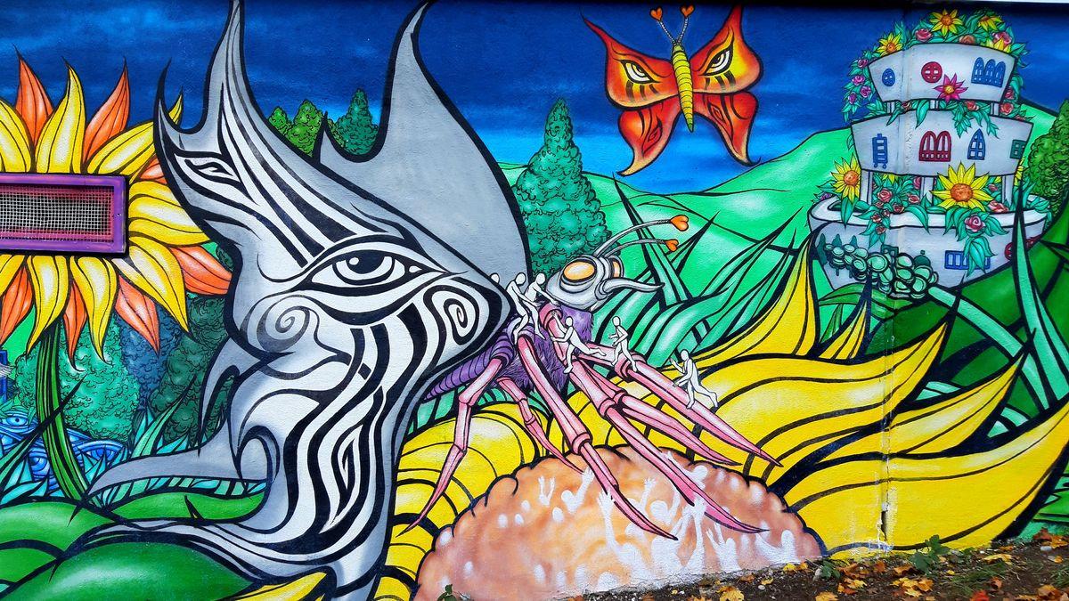 Das Graffiti von Martin Blumöhr im Originalzustand.