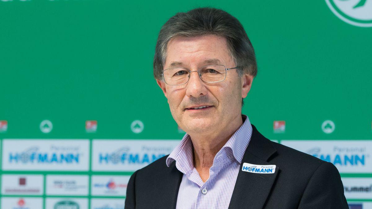 Helmut Hack im Jahr 2017 als Präsident der SpVgg Greuther Fürth