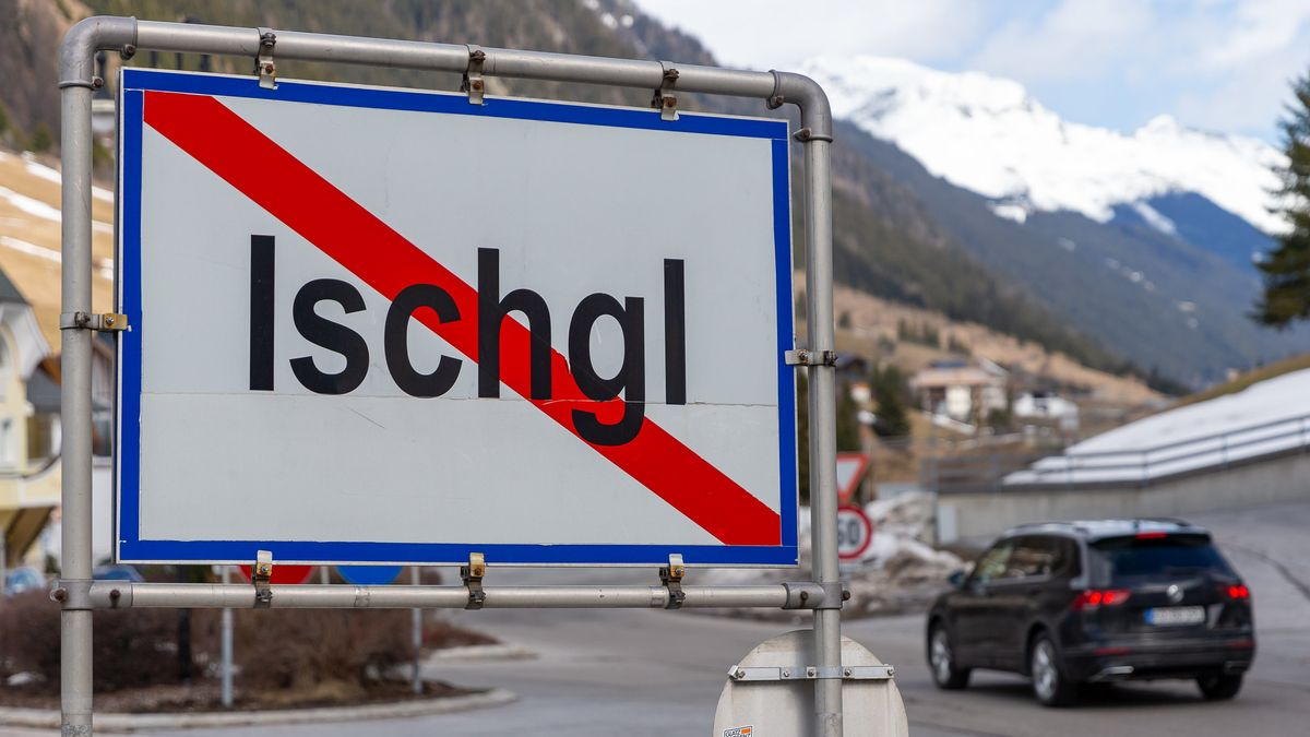 Ein Ortsschild zur Gemeinde Ischgl.
