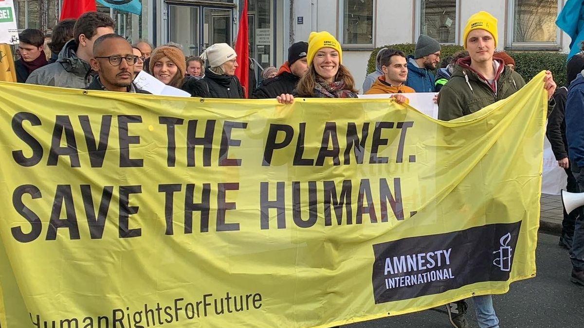 Demonstration für den Klimaschutz
