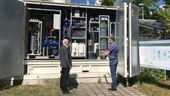 Ein Wasserstoffspeicher am Fraunhofer Institut in Erlangen. | Bild:BR-Studio Franken / Tina Wenzel