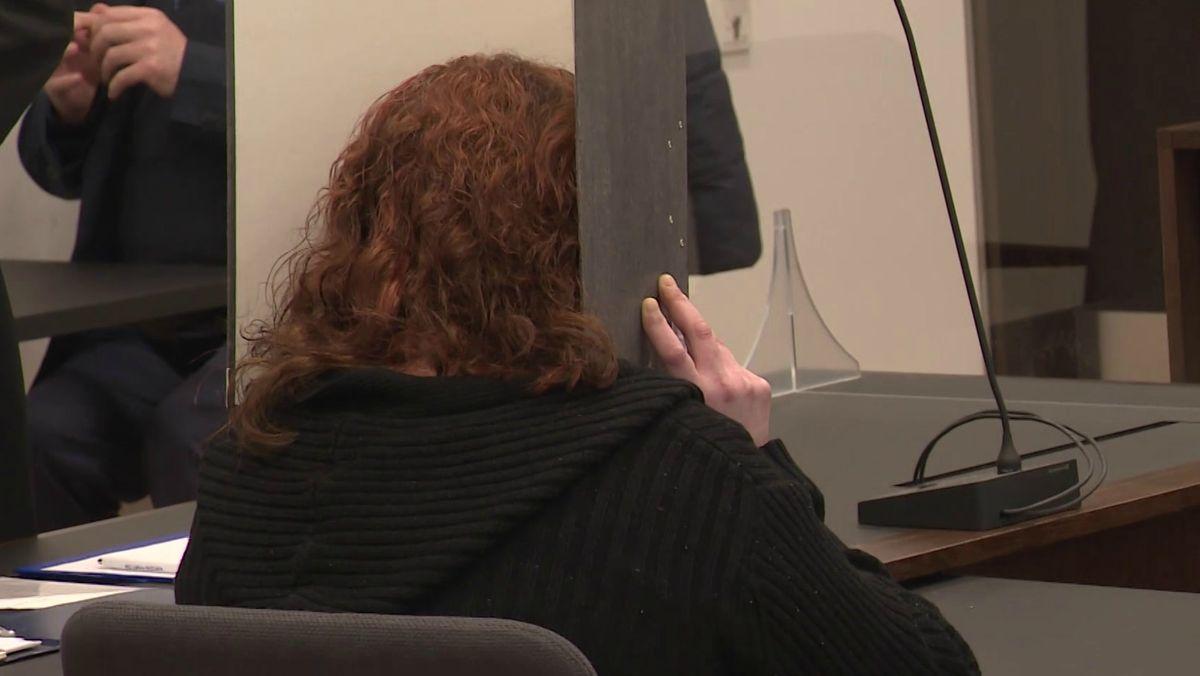 Die 33-Jährige Angeklagte im Gerichtssaal