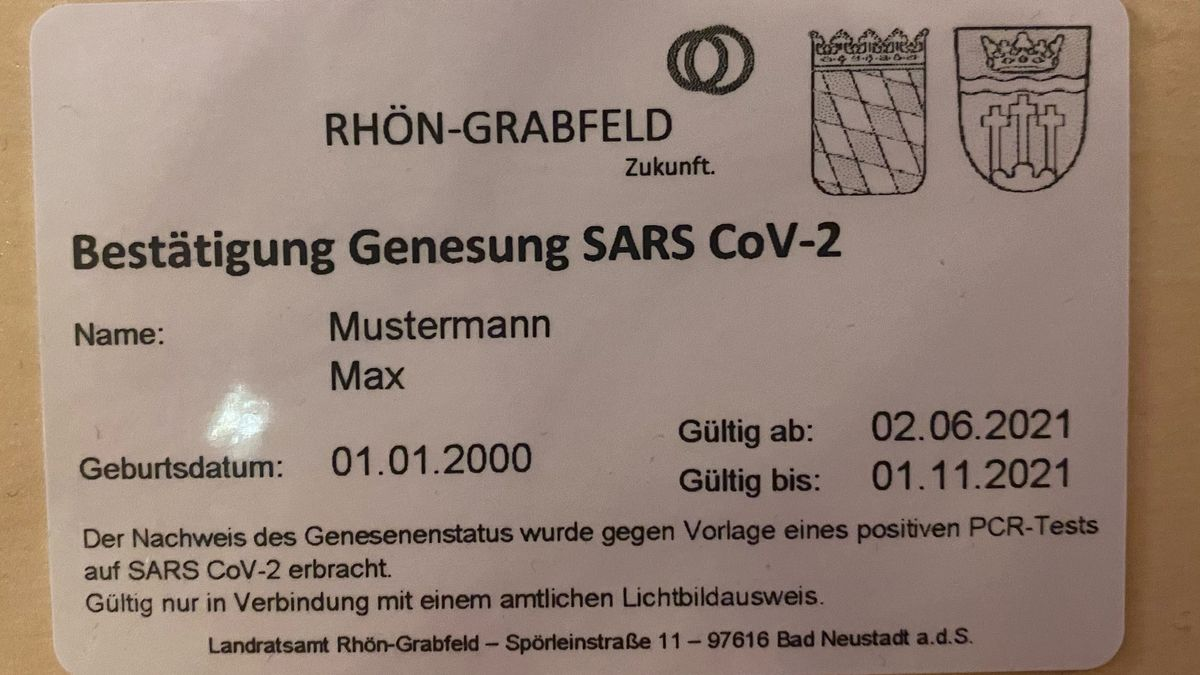 Rhön-Grabfeld gibt eigenen Corona-Immunitätsnachweis raus