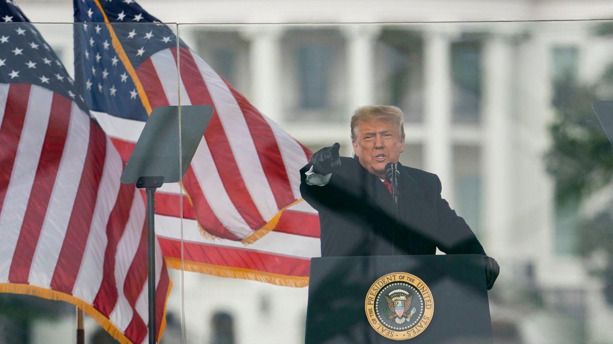 US-Präsident Trump bei seiner Rede vor dem Kapitol.