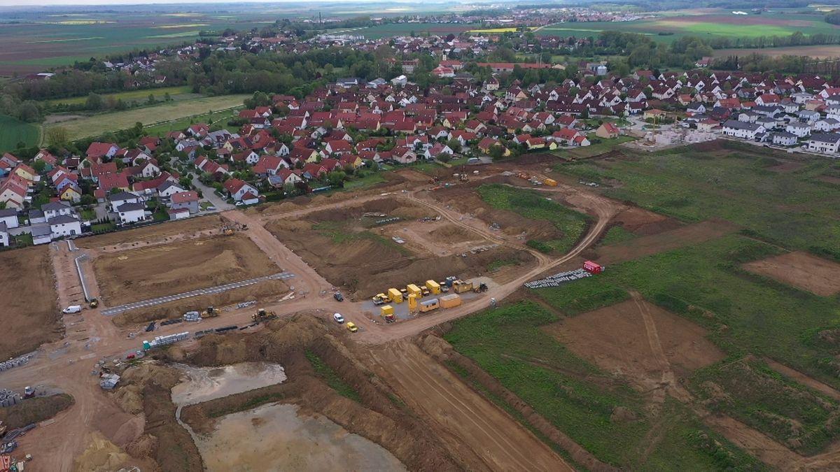 Baugebiet in Köfering.