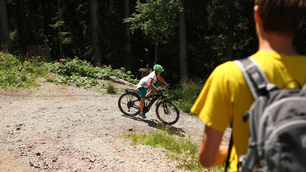 Wanderer trifft Mountainbiker