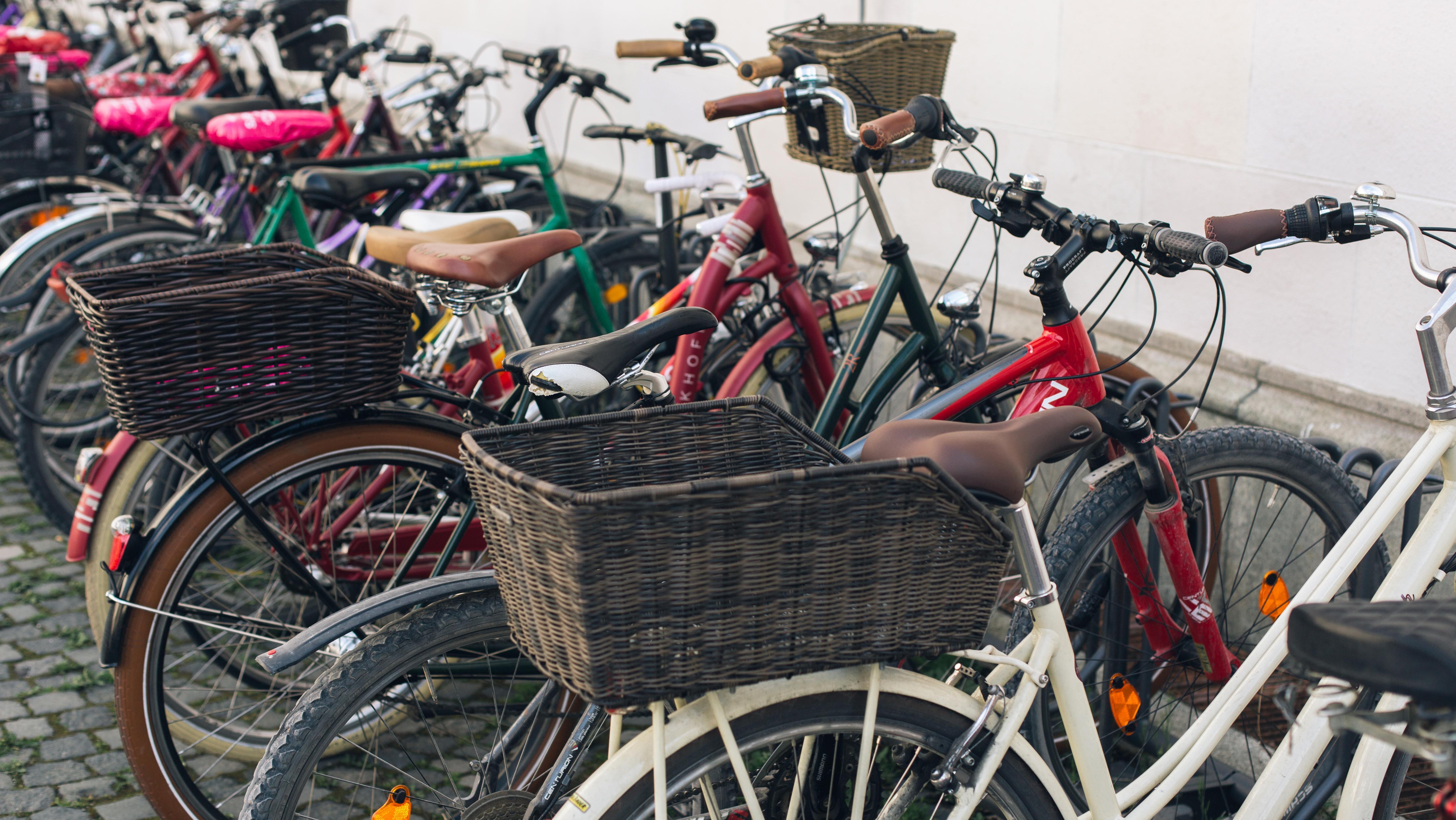 Abgestellte Fahrräder in München
