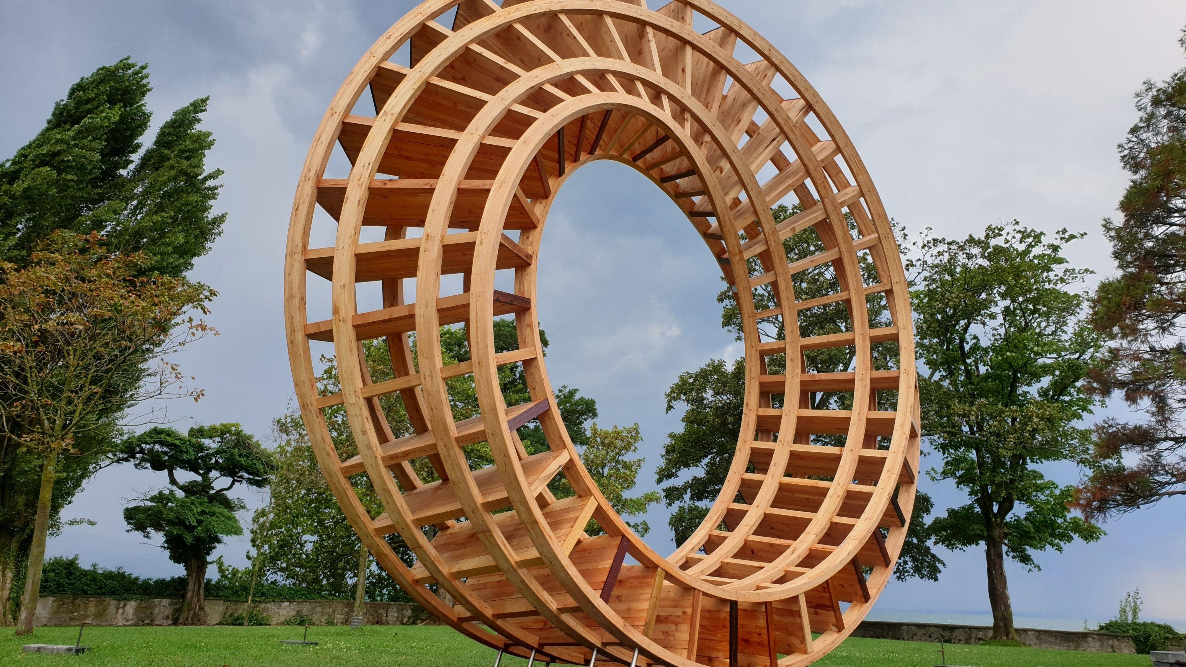 """Der sogenannte """"Ring for Peace"""", aufgestellt zur Lindauer Konferenz"""