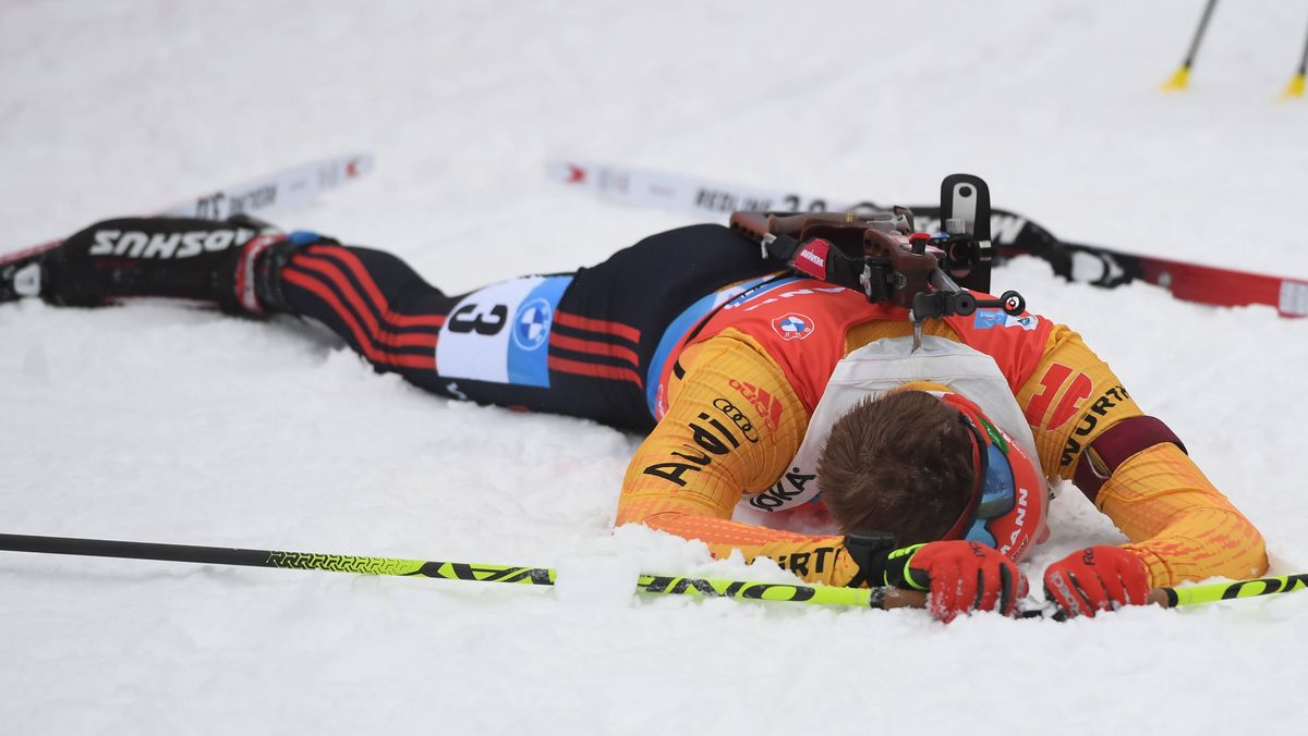 Benedikt Doll nach der Staffel in Antholz