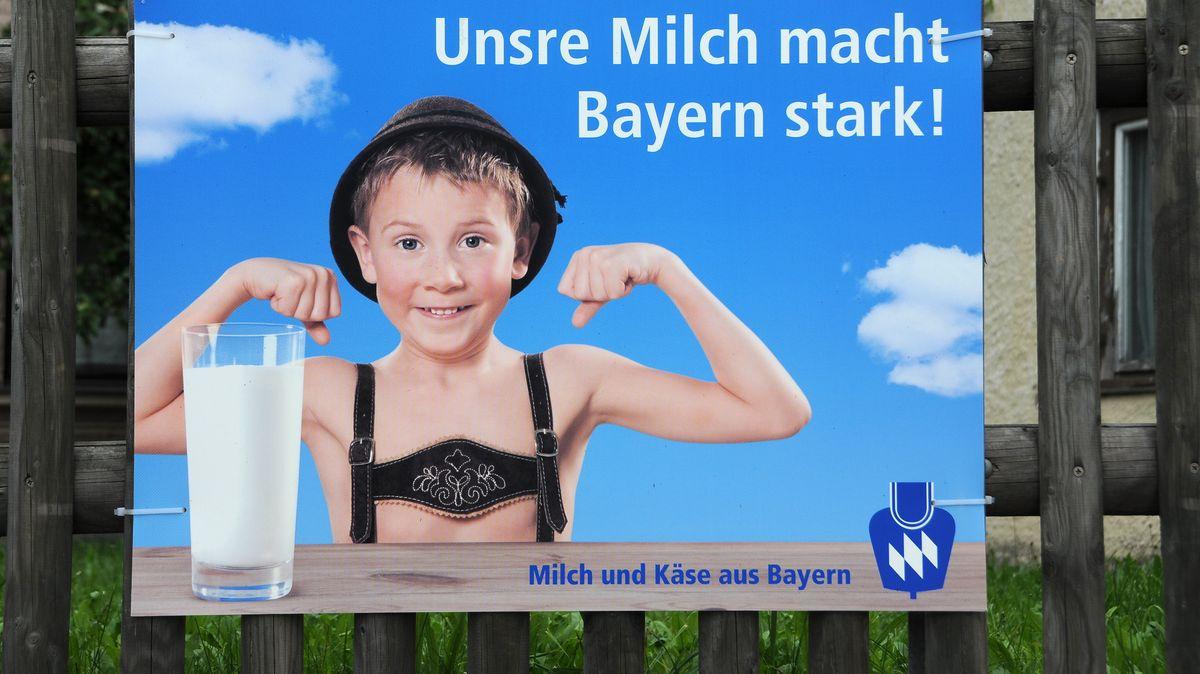 Werbung für Milch aus Bayern