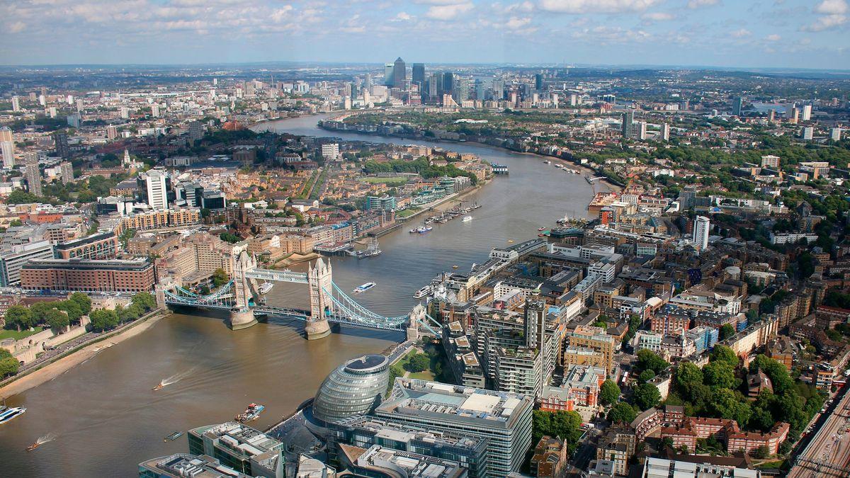 Luftbild von London