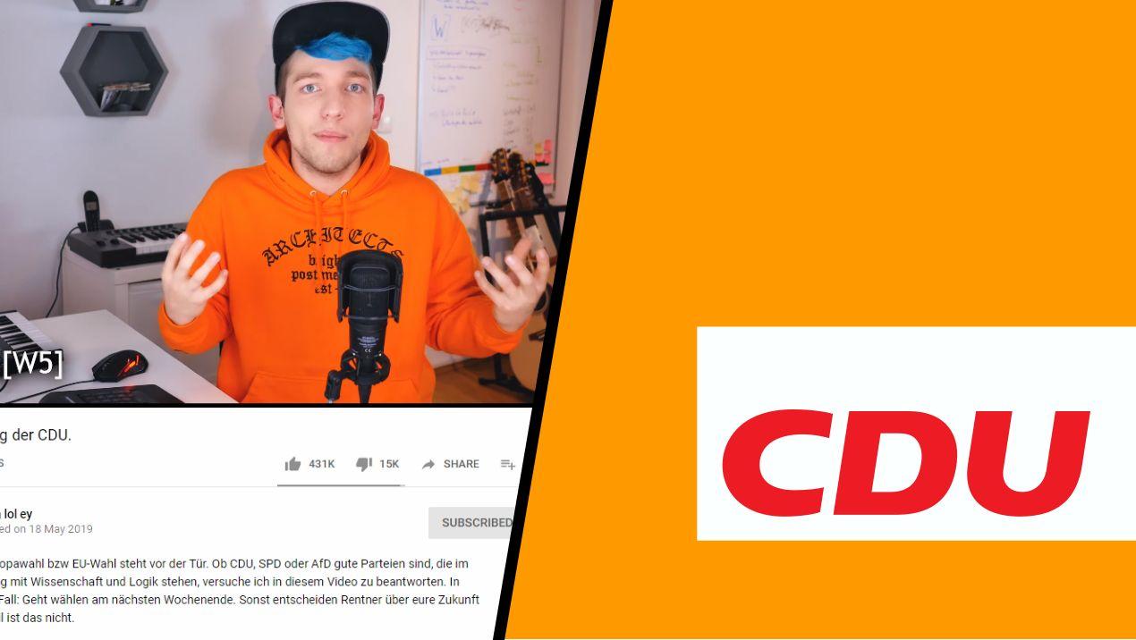 Rezo und CDU-Logo