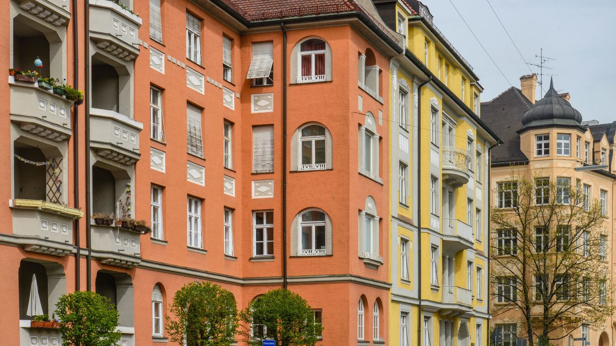 Altbauten in der Clemensstraße in Schwabing.